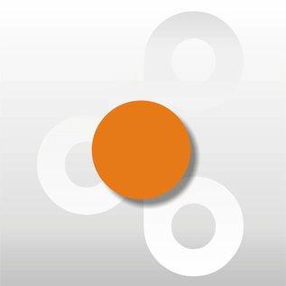 Fluor etiket Oranje 25 mm