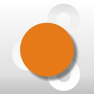 Fluorsticker Oranje 50 mm