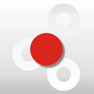 Fluor etiket Rood 25 mm