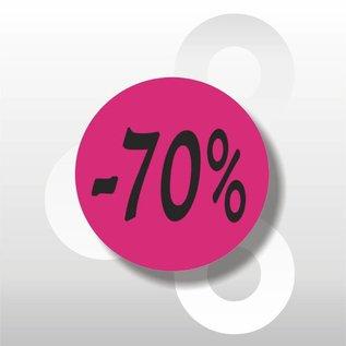 Etiket -70% 500 op rol rose