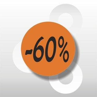 Etiket -60% 500 op rol oranje