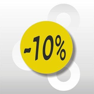Etiket fluor geel -10% 500/rol