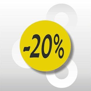Etiket fluor geel -20% 500/rol