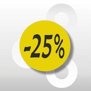 Etiket fluor geel -25% 500/rol