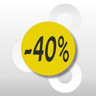 Etiket fluor geel -40% 500/rol
