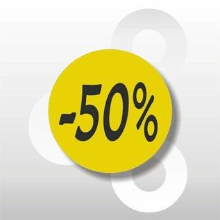 Etiket fluor geel -50% 500/rol