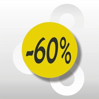 Etiket fluor geel -60% 500/rol