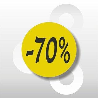 Etiket fluor geel -70% 500/rol