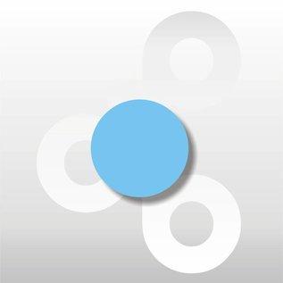 Fluor etiket Blauw 25 mm.