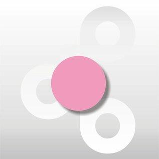 Fluor etiket Roze 25 mm.