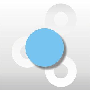 Fluorsticker Blauw 35 mm