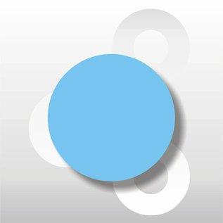 Fluorsticker Blauw 50 mm