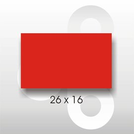 Etiket 26 x 16 Fluor Rood PERMANENT. Blitz C6/C8  UNO dubbelkops