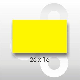 Etiket 26 x 16 Fluor Geel PERMANENT. Blitz C6/C8 of UNO dubbelko