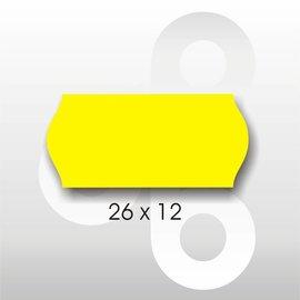 Etiket 26 x 12 Fluor Geel PERMANENT. Blitz C6/C8 UNO enkelkops