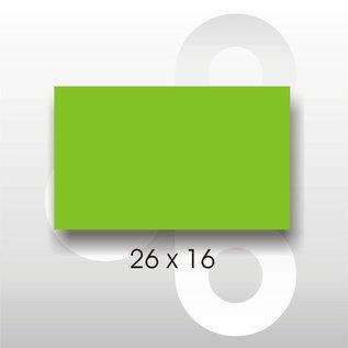 Etiket 26 x 16 Fluor groen PERMANENT. Blitz C6/C8 of UNO dubbelk