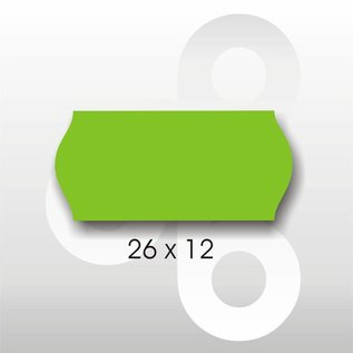 Etiket 26 x 12 Fluor GROEN PERMANENT. Blitz C6/C8 UNO enkelkops