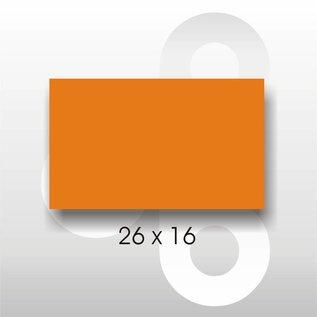 Etiket 26 x 16 Fluor Oranje PERMANENT. Blitz C6/C8 of UNO dubbel