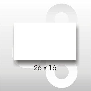 Etiket 26 x 16 rechthoek WIT Blitz C17/UNO dubbelkops.AFNEEMBAAR