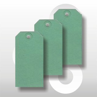 Ecolabel 55 x 110 mm GROEN 1000 stuks