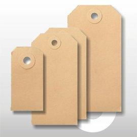 Ecolabel bruin 75 x 150 mm. 1000 stuks