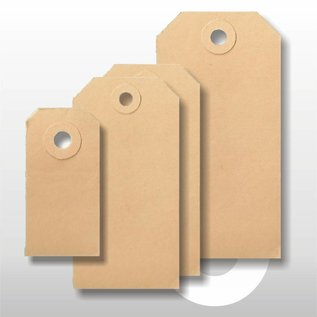 Ecolabel bruin 35 x 70 mm. 1000 stuks