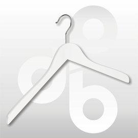 Blouse/shirt hanger wit gelakt 43 cm