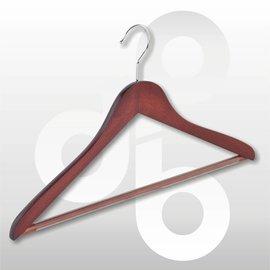 Blouse/shirt hanger Mahonie 43 cm met broeklat