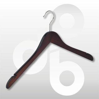 Houten hanger Wenge licht geknikt 43 cm met rokinkeping