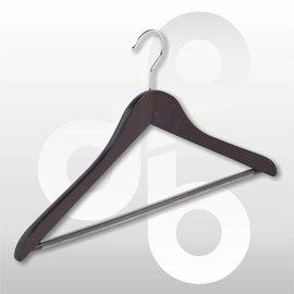 Blouse/shirt hanger Wenge 43 cm met broeklat