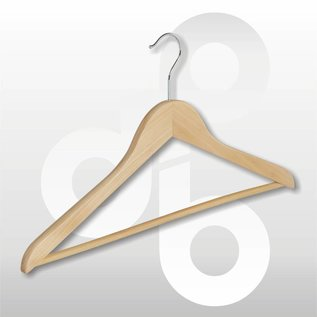 Blouse / shirt hanger vlak met ronde broeklat