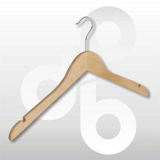 Blouse / shirt hanger vlak 43 cm met rokinkeping