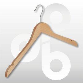 Blouse / shirt hanger licht geknikt 43 cm met rokinkeping