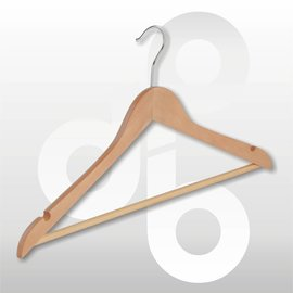 Blouse / shirt hanger licht geknikt met ronde broeklat