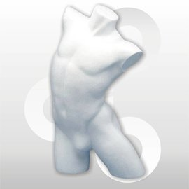 Herentorso wit zonder arm styropu