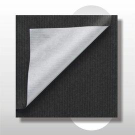 Dubbelzijdig kraft zwart met zilver 30 cm 200 mtr