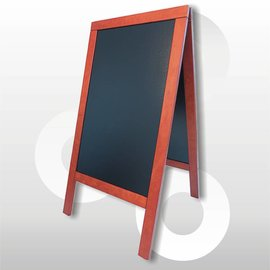 Krijtstoepbord Mahonie B X H 75 x 135 cm