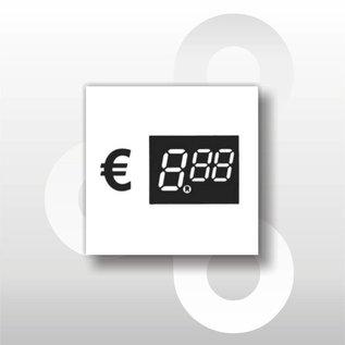 Digitale prijskaartjes tot € 10 WIT 39 mm hoog 100 stuks