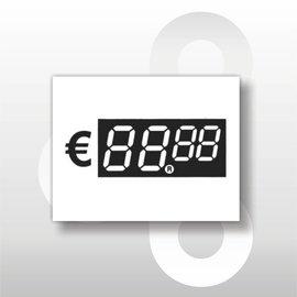 Digitale prijskaartjes tot € 100 WIT 39 mm hoog 100 stuks