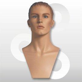 Sporthoofd Adam naturel met skulpturen haar en make-up