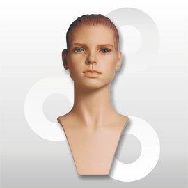 KIm sporthoofd naturel met skulpturen haar en make-up