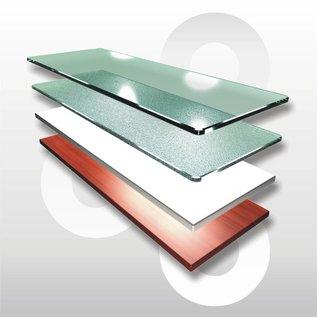 Glasplaten / houten schappen prijs op aanvraag