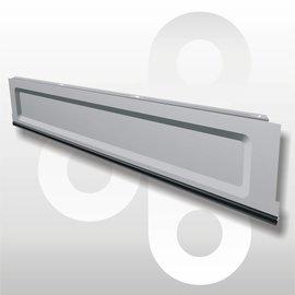 Plint H16 L125 zilvergrijs