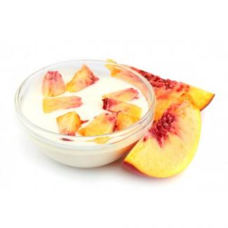Probeer eens onze heerlijke Perzik yoghurt