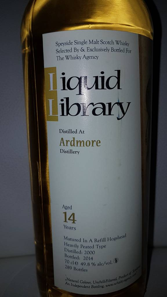 The Whisky Agency Ardmore 2000 14Y 49.8%