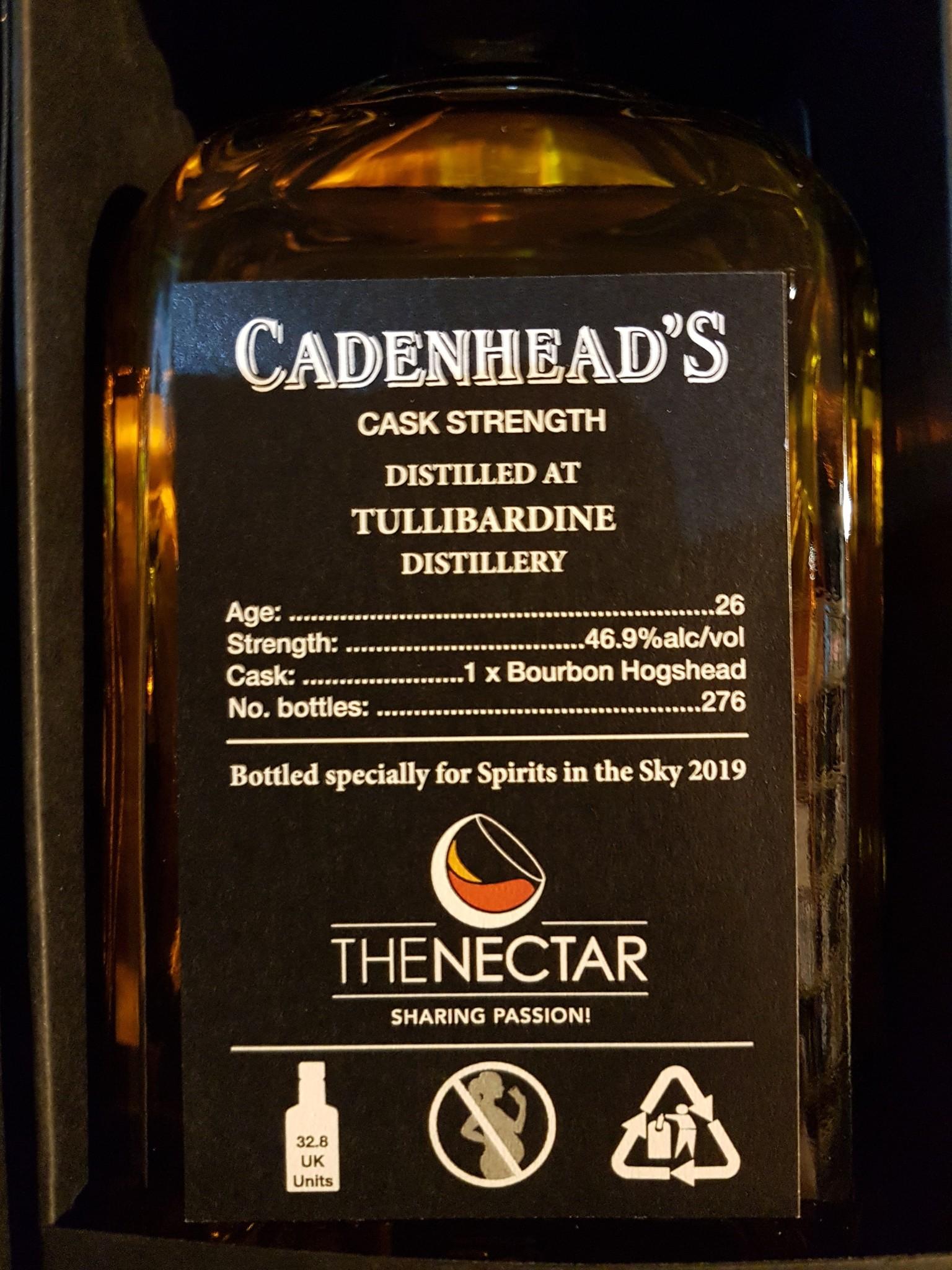 Cadenhead Tullibardine 26Y 1993-2019 46.9% Cadenhead small batch