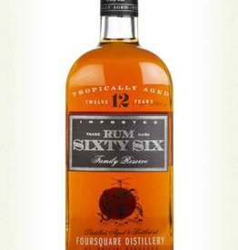 Original Distillery Bottling SIXTY SIX RUM 12Y FROM FOURSQUARE DISTILLERY 40%
