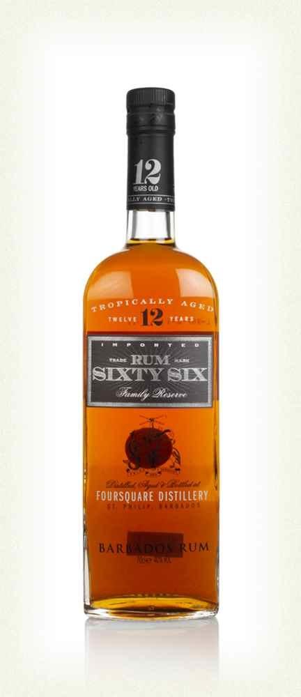 Original Distillery Bottling SIXTY SIX RUM 12Y FROM FOURSQUARE DISTILLERY 40%