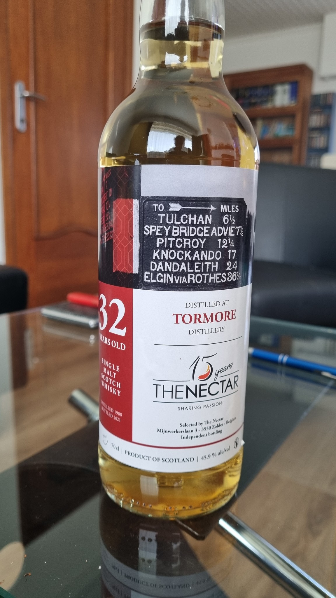 The Nectar OF The Daily Dram Tormore  32Y 1988-2021   45.9% Daily Dram The Nectar