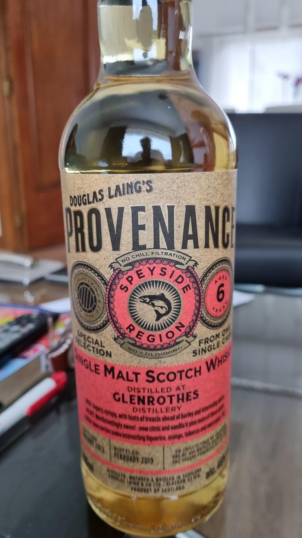Douglas Laing Glenrothes  6Y 2013-2019  46% Provenance Douglas Laing